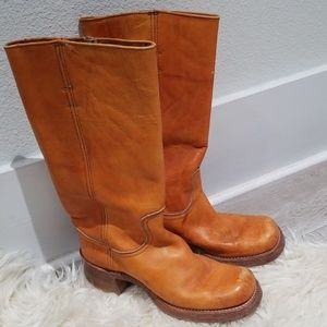 Vintage FRYE campus boots naturally distressed sz8
